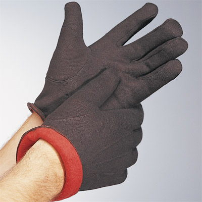 Where to find .WORK GLOVES LINED BROWN JERSEY in Centerville