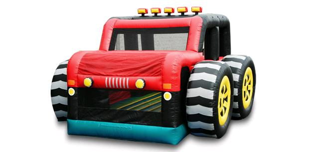 Where to find INFLATABLE 19X23X14 JEEP 4X4 in Centerville
