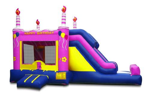 Where to find INFLATABLE 13X23X15 PURPLE CAKE W SLIDE in Centerville